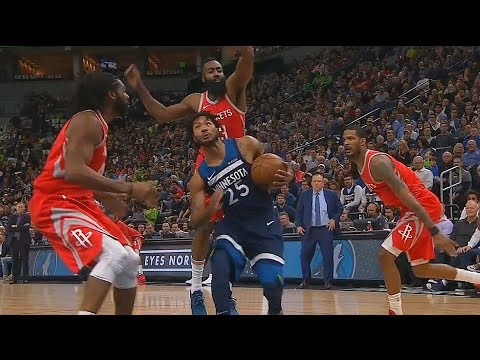 Derrick Rose Schools Rockets Players and Shocks Timberwolves Crowd! Rockets vs Timberwolves