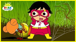 Video Ryan Shrinks in Bugs World| Cartoon Animation for Children! MP3, 3GP, MP4, WEBM, AVI, FLV Juli 2018