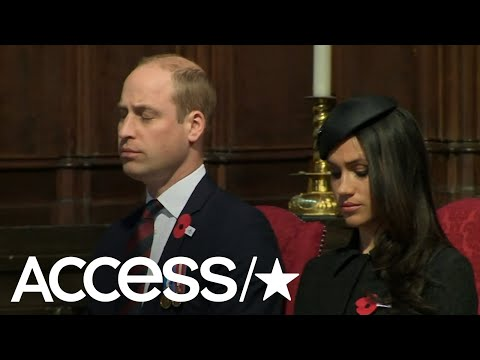 Prince William Nearly Falls Asleep During Anzac Day Services | Access (видео)