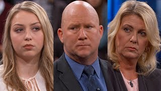 """THURSDAY, JULY 27: Dr. Phil continues his conversation with Tom and Karen who say their 15-year-old daughter, Madison, is out of control. Both parents say if one troubled teen wasn't enough, Madison is now corrupting her 13-year-old sister, Liz. Tom and Karen say they are so terrified of their two teenage daughters that every night they put their house on lockdown and barricade themselves into their bedroom to avoid attacks. Karen says Liz has become Madison's partner in crime and now the 13-year-old has already been in trouble with police. The parents say they fear that their fractured family cannot be put back together. Today, for the first time, meet Liz, who has harsh words for her parents as emotions run high both on stage with Dr. Phil and backstage after taping.  http://drphil.comSubscribe to Dr. Phil: http://bitly.com/SubscribeDrPhilLIKE us on Facebook: http://bitly.com/DrPhilFacebookFollow us on Twitter: http://bitly.com/DrPhilTwitterDr. Phil uses the power of television to tell compelling stories about real people.The Dr. Phil show provides the most comprehensive forum on mental health issues in the history of television. For over a decade, Dr. McGraw has used the show's platform to make psychology accessible and understandable to the general public by addressing important personal and social issues. Using his top-rated show as a teaching tool, he takes aim at the critical issues of our time, including the """"silent epidemics"""" of bullying, drug abuse, domestic violence, depression, child abuse, suicide and various forms of severe mental illness."""