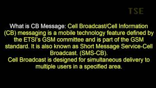 How to STOP receiving CB Messages (cell broadcast messages) in your android mobile Samsung galaxy note series.Some mobile operators use Cell Broadcast for communicating the area code of the antenna cell to the mobile user (via channel 050), for nationwide or citywide alerting, weather reports, mass messaging, location-based news, etc. Not all operators have the Cell Broadcast messaging function.