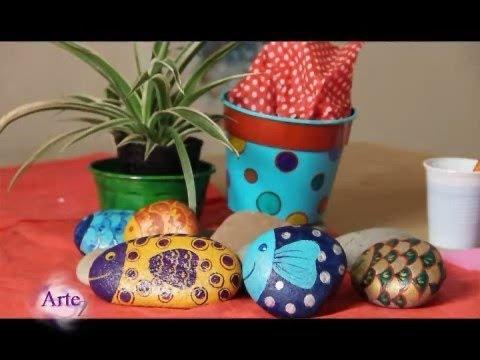 Macetas para colorear videos videos relacionados con for Tecnica para pintar piedras