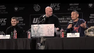 Video Khabib Nurmagomedov Says Max Holloway Has Been Drinking Beer, Max Says He Is Ready  (UFC 223) MP3, 3GP, MP4, WEBM, AVI, FLV Desember 2018