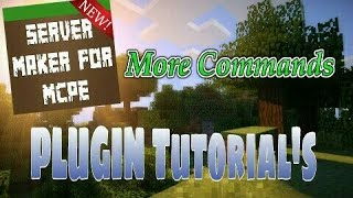 This video explains how to use the More Commands plugin featured in Server Maker for Minecraft PE, the #1 app to create your own MCPE Server.You can find the application here: Android:https://play.google.com/store/apps/details?id=com.bawztech.mcpeservermakerApple/IOS:https://itunes.apple.com/us/app/server-maker-for-minecraft-pe/id1138832899?mt=8This video was sponsored by one of our users, SnowDriven.You guys should definitely check his channel out it can be found here: https://www.youtube.com/channel/UCzWVOup-HVORNT_XhJm_6CAThe game you see featured in this video is Minecraft: Pocket Edition, this game is published by Mojang, a company owned by Microsoft. We do not have any affiliation with them, nor are we endorsed with them. This video exists for informational purposes only.