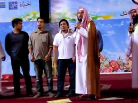 أربعة أشخاص يعلنون إسلامهم في ملتقى الجبل .شبة حايل