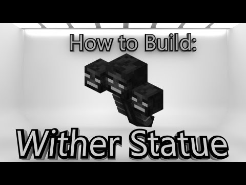 minecraft how to make a wither statue minecraft how to build both    How To Make An Enderman Statue