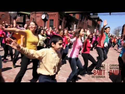 Canada's National Ballet School Perfroms Turn The Music Up for International Dance Day 2012!
