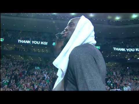 kevin garnett - Paul Pierce, Kevin Garnett Receive Emotional Tributes, Standing Ovations In Boston Return : http://thebrooklyngame.com/videos-paul-pierce-kevin-garnett-recei...