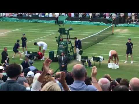 Nadal match point versus Del Potro Wimbledon 2018 (видео)