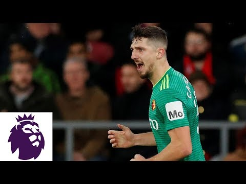 Video: Craig Cathcart heads in equalizer for Watford | Premier League | NBC Sports