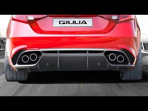 roar!! 2017 alfa romeo giulia exhaust sound