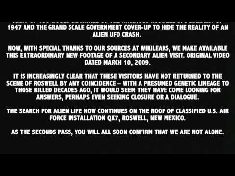 ALIEN caught on tape (latest Roswell UFO footage 2012)