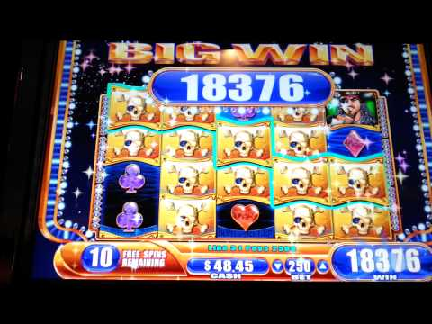 Pirate Ship 20 Free Spins Bonus Big Win Max Bet WMS Slot Machine