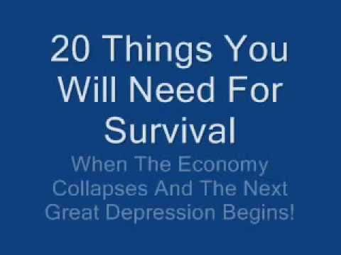 20 Things You'll Need For Survival When The SHTF