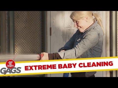 Troll Hài Hước - Extreme Baby Cleaning