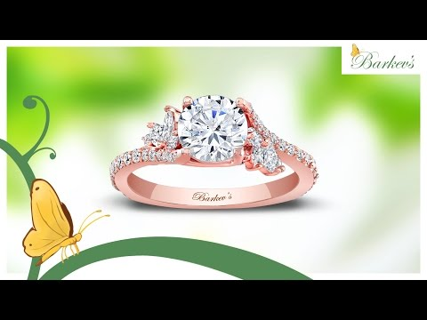 Barkev's Rose Gold Engagement Ring - 7908LP