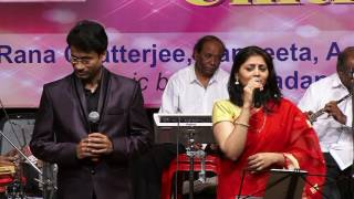 Rana Chatterjee and Sangeeta Melekar performing during our 'Magnificent Chitragupta' Show on 27th April 2017 at Mysore ...