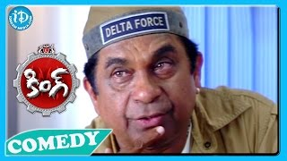 Brahmanandam Back To Back Funny Scenes   King Movie || Telugu