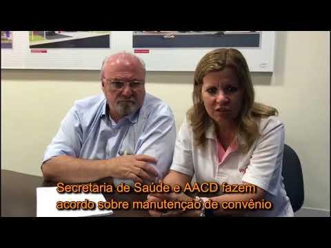 Secretário Aldenis e a presidente da AACD, Adriane Cirelli