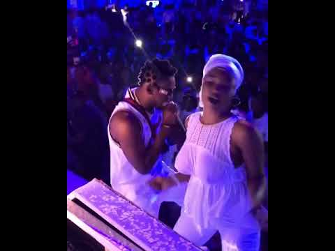 Nigerian Girl Who Left Her House Without Wearing Bra Dancing With Orezi On Stage