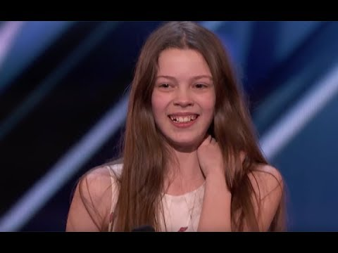 'America's Got Talent' 13 Year Old With Social Anxiety Turns Into Janis Joplin When She