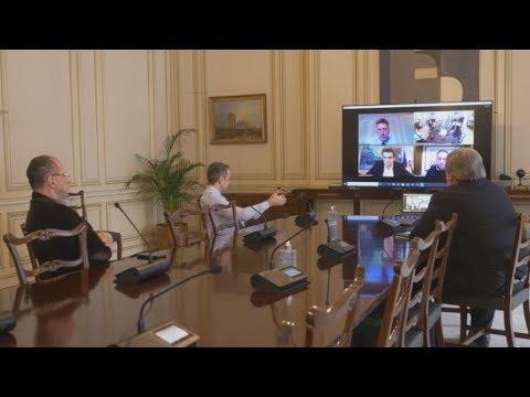 Η πρώτη σύσκεψη υπό τον Κυρ. Μητσοτάκη μέσω e:Presence