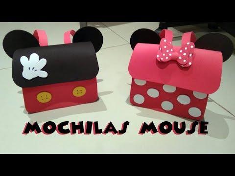 Mochila Minnie mouse goma eva