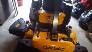 5. Cub Cadet RZT S mower review after 4.5 hours of use.