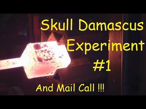 Video Forging / Blacksmithing Skull Damascus Part #1 download in MP3, 3GP, MP4, WEBM, AVI, FLV January 2017