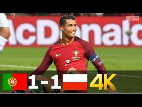 Portugal Vs Poland 1-1 (pen 5-3) - UHD 4k EURO 2016 - Full Highlights (English Commentary)
