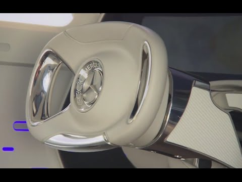 Mercedes Retractable Steering Wheel Is Art!  Mercedes Driverless Car CARJAM TV 2016