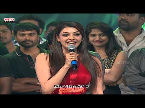Kajal Agarwal Cut Speech At Temper Audio Launch  JrNtr Kajal Agarwal