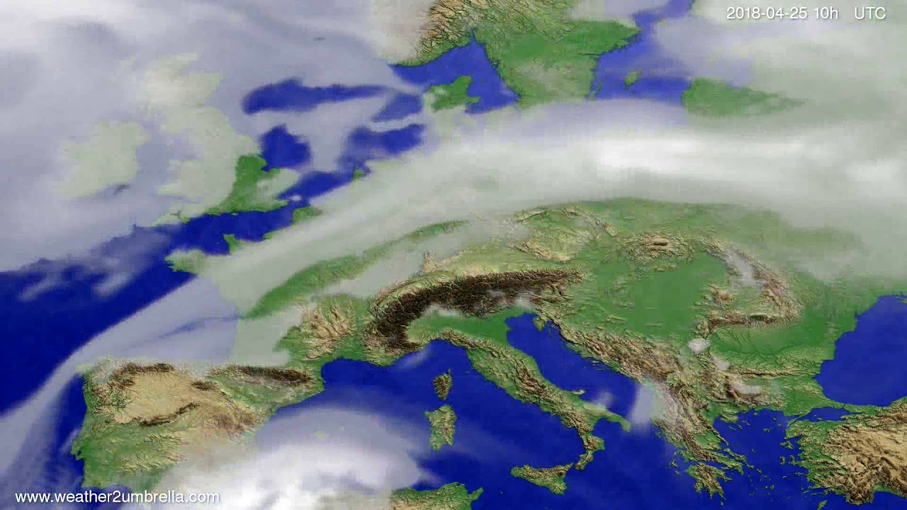 Cloud forecast Europe 2018-04-23
