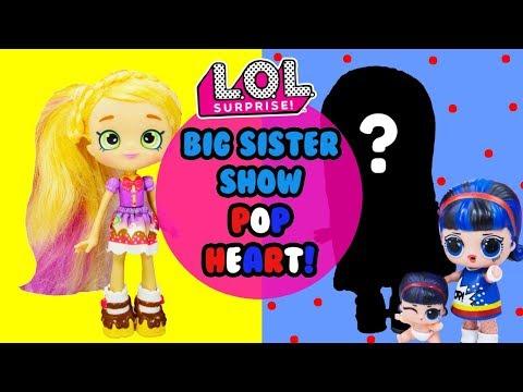 LOL SURPRISE Big Sister Show DIY Pop Heart Big Sister Makeover