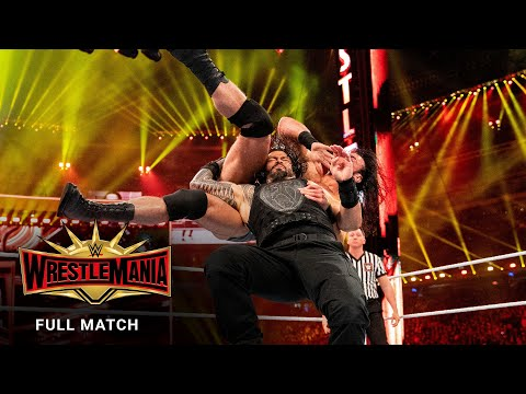 FULL MATCH - Roman Reigns vs. Drew McIntyre: WrestleMania 35