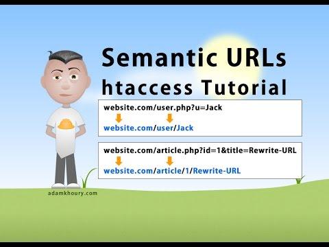 Semantic URL htaccess Tutorial SEO Friendly Clean Links Rewrite