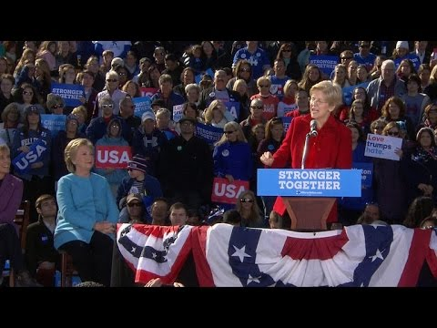 Full Video: Hillary Clinton campaigns with Elizabeth Warren in New Hampshire