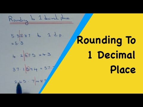 how to round off decimals