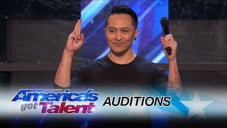 Download Youtube: Demian Aditya: Escape Artist Risks His Life During AGT Audition - America's Got Talent 2017