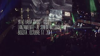 El 17 de octubre del 2014 se dio inicio a la gira #alsondemicorazóntour, en la ciudad de Bogotá. Sigue la gira de GUSI en www.gusimusica.com Escucha Al Son de Mi Corazón en http://smarturl.it/AlSonDeMiCorazon_1Escucha Al Son de Mi Corazón en http://smarturl.it/AlSonDeMiCorazon_1