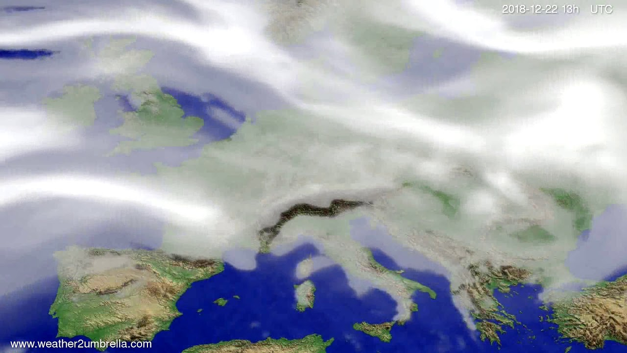 Cloud forecast Europe 2018-12-19
