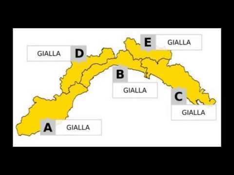ALLERTA GIALLA PER PIOGGIA E TEMPORALI  IN LIGURIA