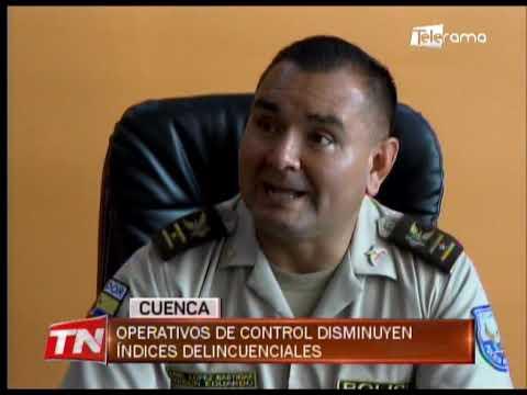 Operativos de control disminuyen índices delincuenciales