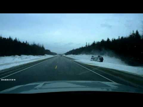 DASH CAM - Accident on Hwy 101 near Meteghan, NS