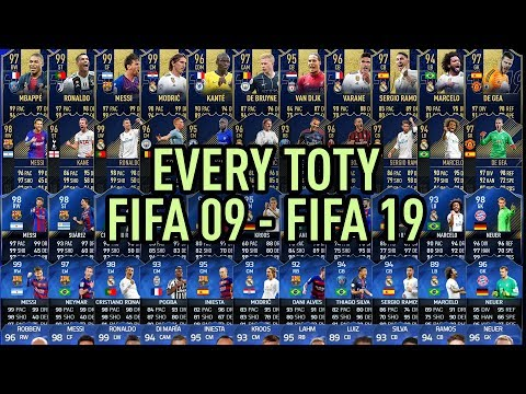 EVERY TEAM OF THE YEAR From FIFA 09 To FIFA 19