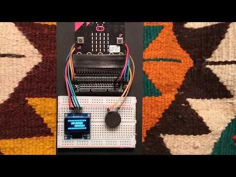 BBC micro:bit with OLED display demo
