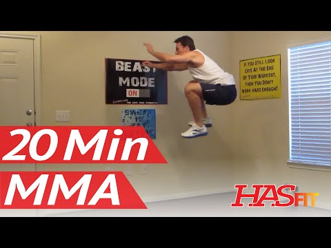 20 Minute MMA Training Exercise – HASfit Mixed Martial Arts Workout – MMA Fitness – UFC Training