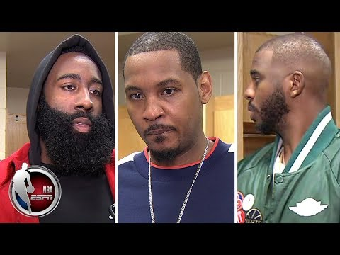 Video: Carmelo Anthony, James Harden and Chris Paul 'not worried' after Rockets loss to Thunder | NBA Sound
