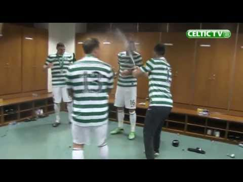 Celtic - It was a fantastic day for Celtic as they lifted the SPL trophy at Celtic Park. This footage also includes exclusive coverage from the dressing room.