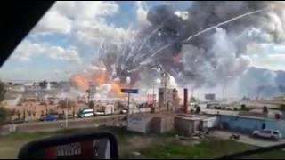 Fireworks market explosion in Mexico